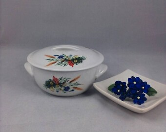 Trinket Bowl with Lid-Fine China-Hoan Made in France