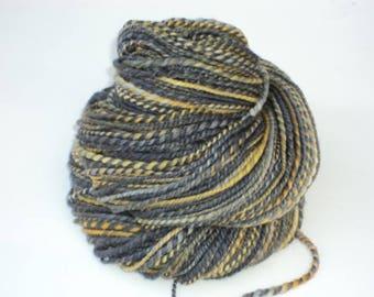 Bees, Hand Spun, Handspun, Merino, Yarn, Hand Dyed, Dyed, DK, Yellow, Grey, Black