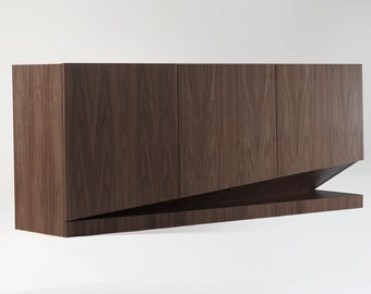 Dark walnut veneered designer sideboard - RED DOT AWARD winner - prototype