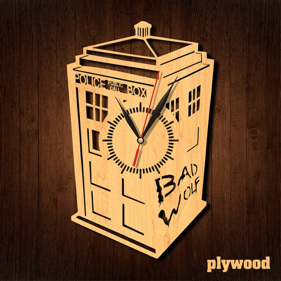 Doctor Who clock Wooden clock HDF clock Acrylic clock