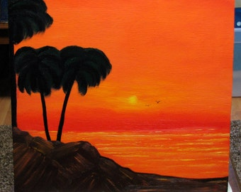Oil painting #3 Tequila sunrise