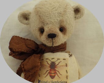"AMBROSE artist teddy bear 5"" tall"
