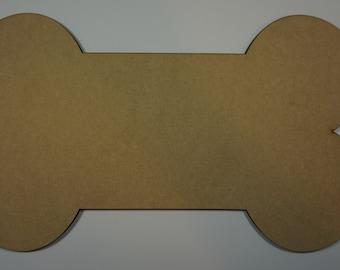 Dog Bone Silhouette cutout