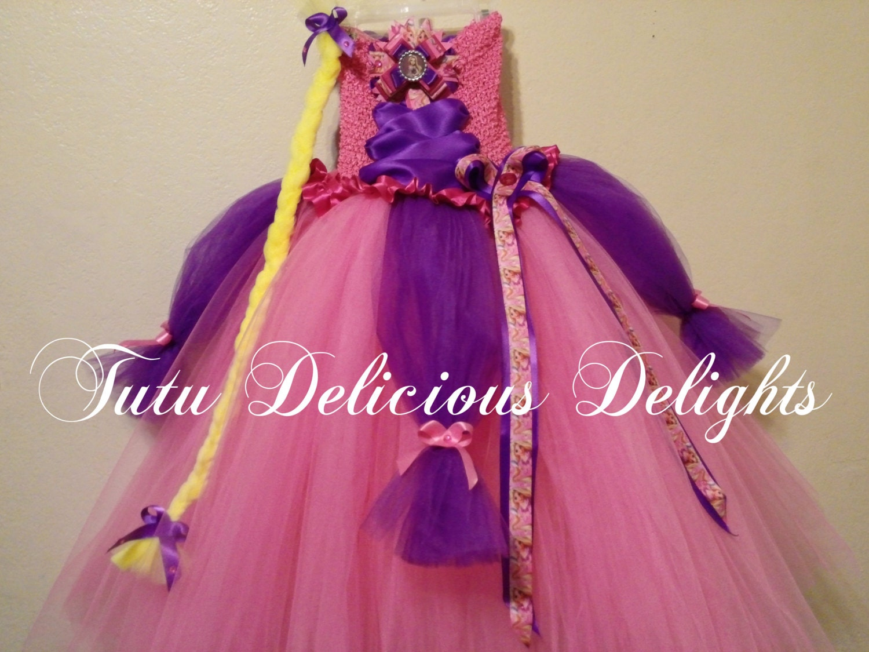 Rapunzel rosa y Princess Tutu Vestido púrpura enredados