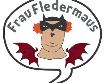 Whimsical Frau Fledermaus patches - big and small to customise your favourite clothes