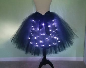 Black LED tutu** Halloween Orders Available **/ Children to adult Tutu costumes/ Light up tulle skirts (33 colors available)