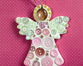 Fun Lily Mosaics D.I.Y. Mosaic Pink Angel Kit for adults and children