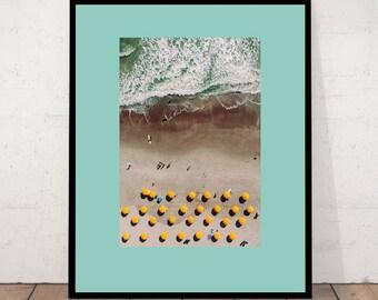 Art Print, Beach Print, Beach Art, Beach Parasol Print, Beach Parasol, Photography Print, Tropical Print, Summer Print, Beach Photography