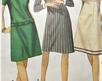 Vintage Dress Sewing Pattern Simplicity 6114 Size 16