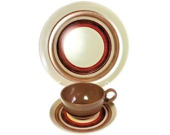 Melmac Sierra 3 Piece Place Setting Dinner Plate Cup Saucer