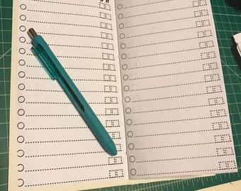 Grocery List Travelers Notebook Insert Standard Size