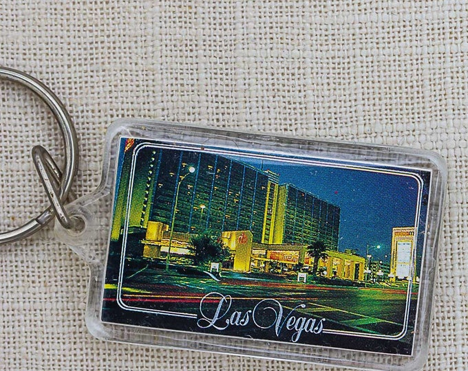 Las Vegas Vintage Keychain Nevada Photo Key FOB Key Chain 7PP