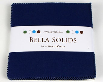 SALE Moda  Bella Solids Blue Charm Pack- (42) 5 inch  9900PP 48