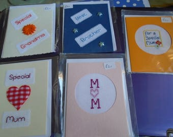 Sewn Cards for family members