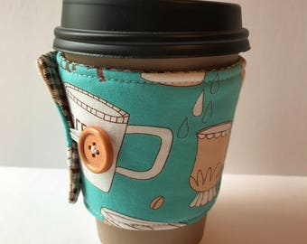 Mug Love Coffee Cup Cozy - Cup Cozy - Reusable Cup Sleeve - Gift Idea