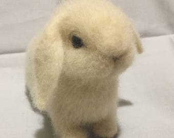 Needle felted wool bunny