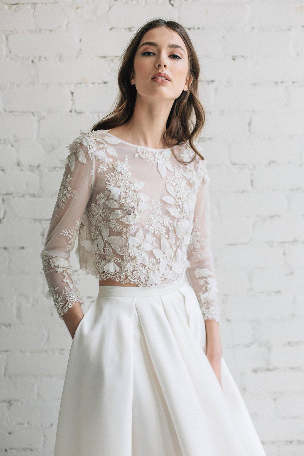 Lace Wedding Top Bridal Separates Bridal Lace Top 3D