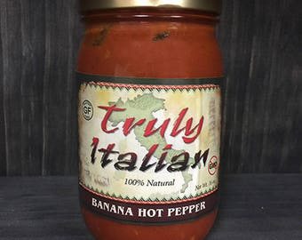 Hot Banana Pepper 16oz Pasta Sauce