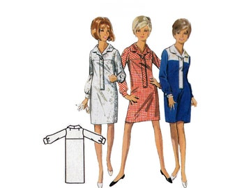 """1960's Butterick 4456 Woman's Dress or Shirtdress Size 16    Bust 36""""/ 91cm    Vintage Sewing Pattern"""