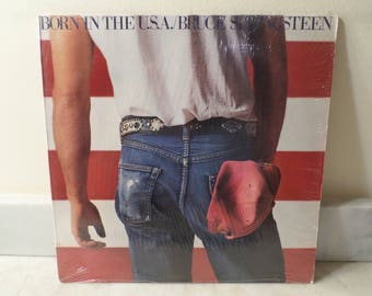 Vintage 1984 LP Record Bruce Springsteen Born In the USA Columbia Records Near Mint Condition 14943