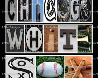 Chicago White Sox  Alphabet Photo Art
