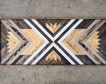 Reclaimed Wood Headboard, Queen Headboard, Wood Headboard, Wood Wall Art, Headboard Full, Reclaimed Wood Wall Art, Geometric Wall Art