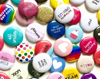 MYSTERY FLAIR BUTTON grab bag pin badge crafting scrapbooking planner flatback