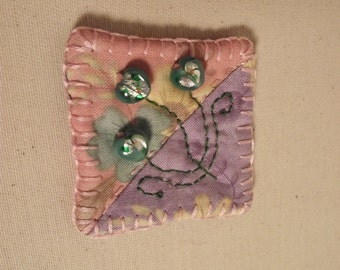 Spring Flowers Pin Brooch