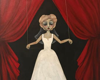 "The Bride - Original Painting - 14.5"" x 18.5"" Acrylic on Canvas"