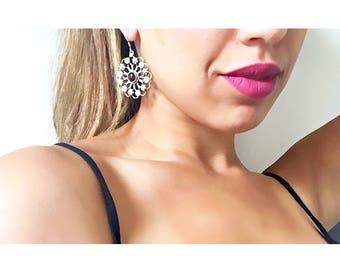 Moroccan Earrings, Sterling Silver Earrings, Boho Earrings, Moroccan Jewelry, Gypsy Earrings,Statement Earrings, Earrings Handmade, Morocco