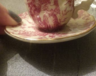 TOILE TEACUP and SAUCER