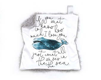 Lovey How Much I Love You Teal Whale. Lovey. Whale Lovey. Ocean Lovey. Teal Lovey. Mini Baby Blanket. Security Blanket. Lovie. Minky Lovey.