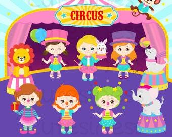 Circus clipart , circus clip art ,clowns clipart , circus printable , circus images , lion elephants monkey tiger Ferris wheel clipart