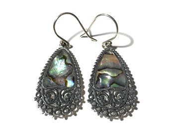 Sterling Silver Abalone Earrings ATI Indonesia 925