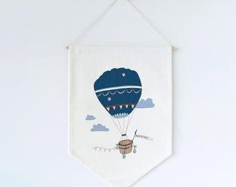 Hot Air Balloon Wall Flag Fabric BANNER Wall Hanging