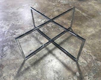 Modern Chrome Coffee Table Base   DIY Legs For Coffee Table