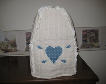 Mixer Cover Blue Heart applique.