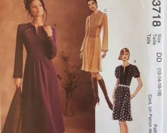 McCalls Womens Dress Sewing Pattern 3718