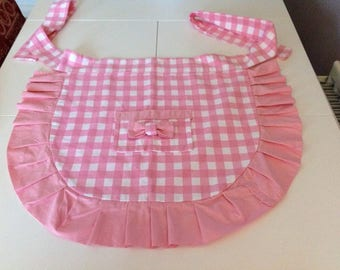 Handmade and hand finished apron.