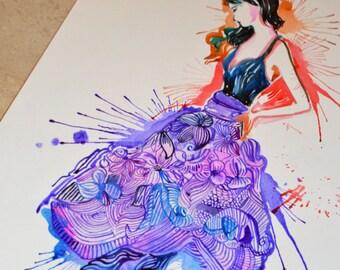 Illustration in Purple