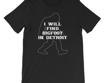 I will find Bigfoot shirt Yeti or Sasquatch Detroit
