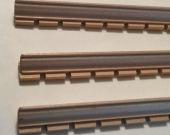 Set of 4 Pieces of Large Wood Dollhouse Dentil Molding in One Inch Scale for a Dollhouse or Room Box