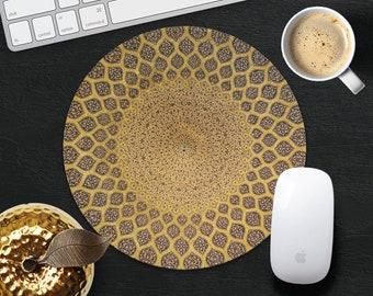 Geometric Mouse Pad Symmetry Mouse Mat Desk Accessories MousePad Gold MousePads Gift Idea MouseMat Computer Mouse Pad Decor Office Supplies