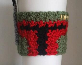 Crochet Boba Fett Coffee Cup Cozy