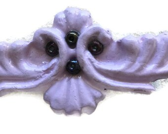 Purple Vintage Look  Medium Hair Barrette