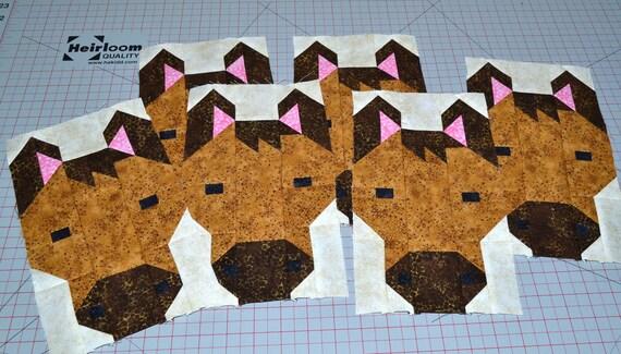 Horse Quilt Block Pattern Pdf Instant Download Modern