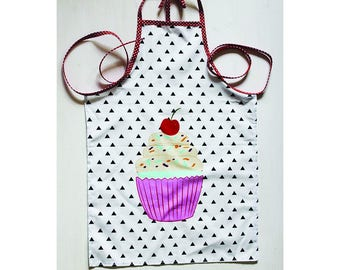 Child apron in cotton - cupcake