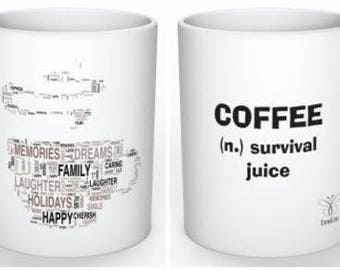 EmsiLou DRINK Typography MUG (personalised)