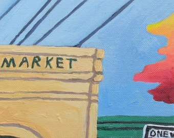 French Market  6 x 12 (original acrylic on canvas)
