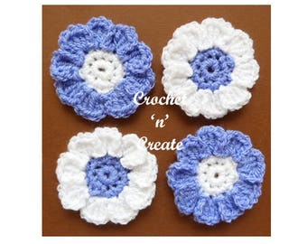 Flower Motif Crochet Pattern (DOWNLOAD) CNC44